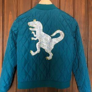 Cat & Jack. Kids large 10/12 jacket/T-Rex on back